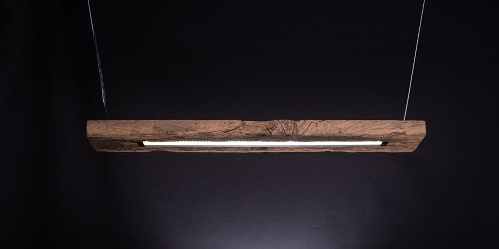 Tisch-Hängeleuchte Planke von lichterpunktmeer